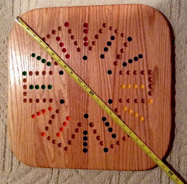 """23"""" Oak Aggravation gioco tavola He fatto  He Painted In USA - 2-6 player  nuovo  Felice shopping"""