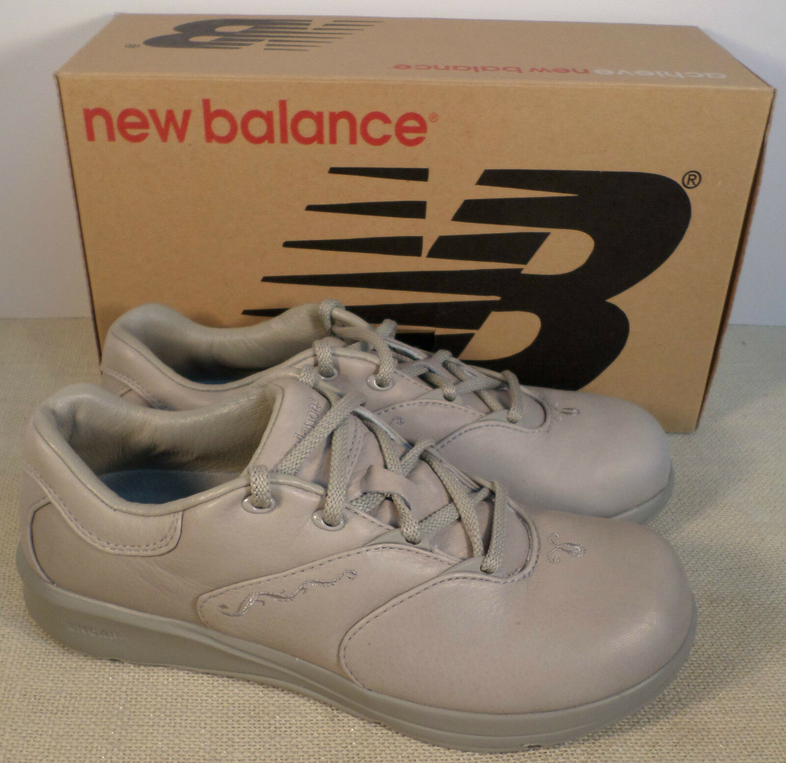 NEW BALANCE WW901ST WOMEN'S TAN LEATHER WALKING SHOES NEW IN BOX