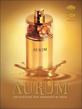 Aurum por Ajmal famoso Eau de Parfum con flores de verano y con sabor a fruta mezcla 75ml