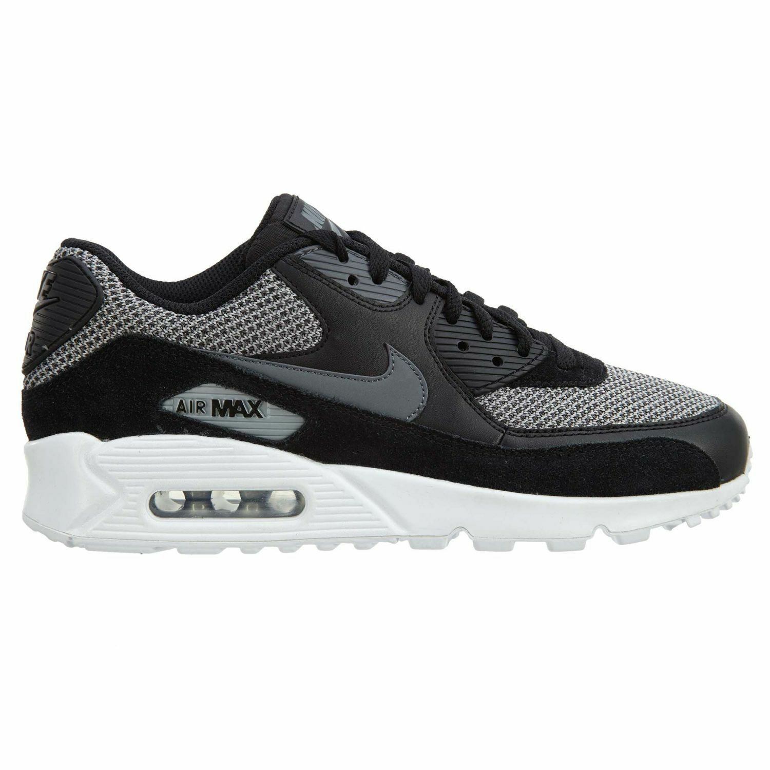 Nike Air Max 90 Essential Mens 537384-075 Black Dark Grey Running Shoes Size 8