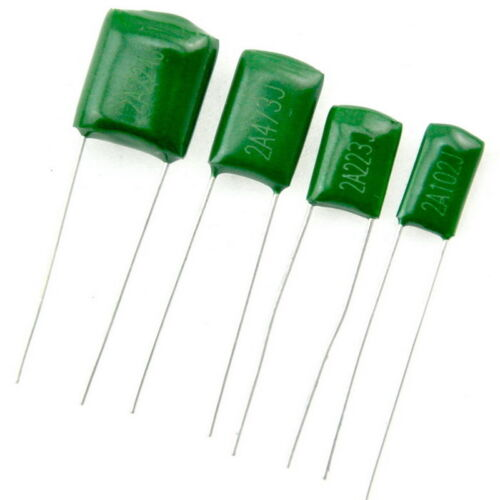 20pcs 12nF Polyester Poly Film Capacitor,123,100V,5/%.