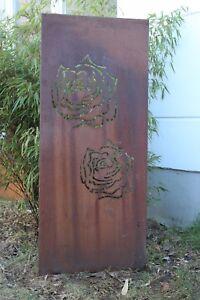 Details zu Edelrost Garten Sichtschutz Wand Corten Stahl Sichtschutzwand  Metall 117*50cm
