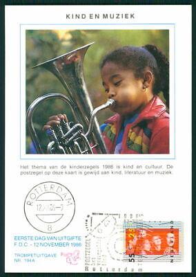 Besorgt Niederlande Mk 1986 Voor Het Kind Kunst Musik Tuba Maximumkarte Mc Cm Ek76 Modernes Design