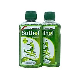 Boroline-Suthol-2x-100ml-Natural-Antiseptic-Skin-Care-Lotion-First-Aid-Free-Ship