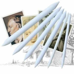 6Pcs-White-Pastel-Charcoal-Blender-Stump-Tortillon-Sketch-Drawing-Pencils-Pens