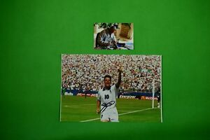 ROBERTO-BAGGIO-Genuinely-Hand-Signed-11-034-x14-034-Original-World-Cup-Action-Ph-Proof