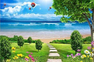 3D Seaside Beach Anlage1118 Fototapeten Wandbild Fototapete Bild Tapete Familie
