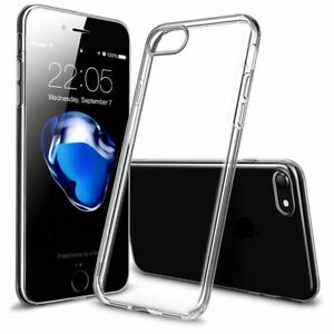 For iPhone XS Max XR X 8 Ultra-thin Slim Silicone Soft Clear TPU Back Case Cover