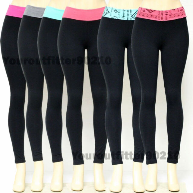 Women Soft Comfy Cotton Spandex Legging Yoga Workout Gym Sports Athletic Pants