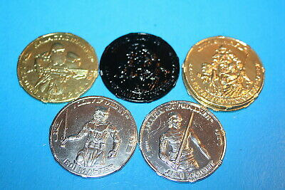 "STAR WARS 2007 30th ANNIVERSARY /""COINS/"" NAMES GREAT SHAPE FIGURE WEAPONS HASBRO"
