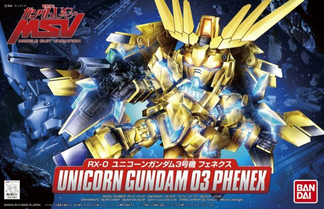 BB SD #394 Gundam Unicorn 03 Phenex Unicorn Cundam Model Kit Bandai IN STOCK USA
