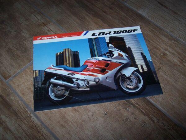 Beschouwend Prospectus / Brochure Honda Cbr 1000 F 198? // Ongelijke Prestaties