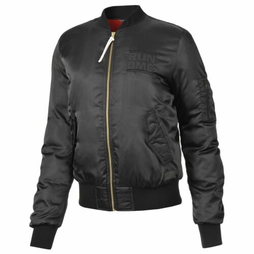 adidas Originals x Run DMC W Bomber Jacket Sizes 6-14 Black RRP £70 BNWT M64456