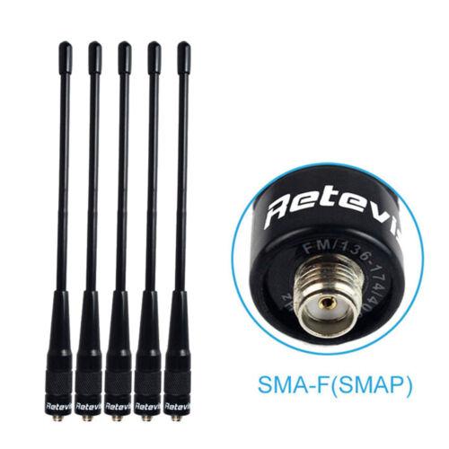 5pcs  Retevis RHD-701 SMA-Female Antennas VHF//UHF 20W For BAOFENG//Yaesu Kenwood