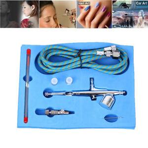 Gravity-Feed-Airbrush-Gun-Set-DUAL-ACTION-Craft-Paint-Art-Spray-Gun-Tattoo-Tool