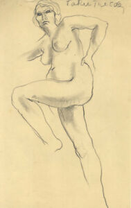 Elinor-Bellingham-Smith-Early-20th-Century-Graphite-Drawing-Female-Nude