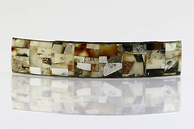 And Great Variety Of Designs And Colors Full Range Of Specifications And Sizes Unique Color Hair Barrette Genuine Baltic Amber Mosaic B150211-17 Famous For High Quality Raw Materials