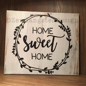 Details About Home Sweet Rustic Wood Sign Farmhouse Style Distressed Handmade Decor