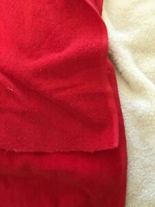 Details about Vintage Red Towel Terry Cloth Fabric Cotton Looped 1  side/velvet smooth on other