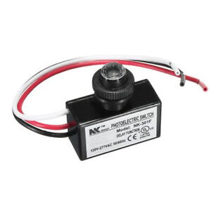 AC 80-277V Photoelectric Switch Photocell Dusk To Dawn Button Photo Control Eye