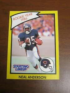 """Neal Anderson 1990 Kenner Starting Lineup Card """"Rookie Card"""" - Chicago Bears"""