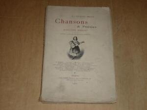 EUGENE-BAILLET-CHANSONS-amp-POESIES-RARE-ENVOI-SIGNE-Chansonniers-19e