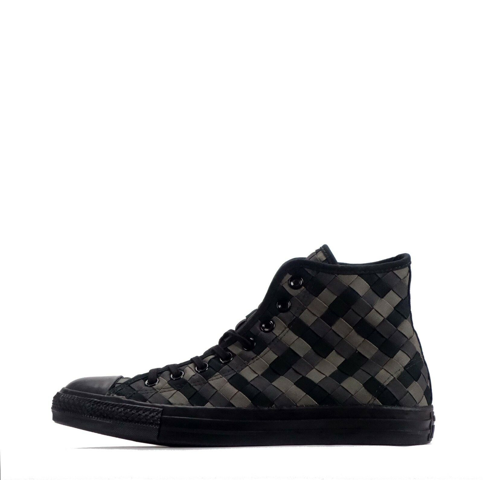 Converse Chuck Taylor All Star Hi Woven Mens Trainers Black/Charcoal