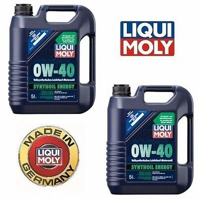 10-Liters Liqui Moly SAE 0W-40 Fully Synthetic Motor Oil Synthoil Energy |  eBay