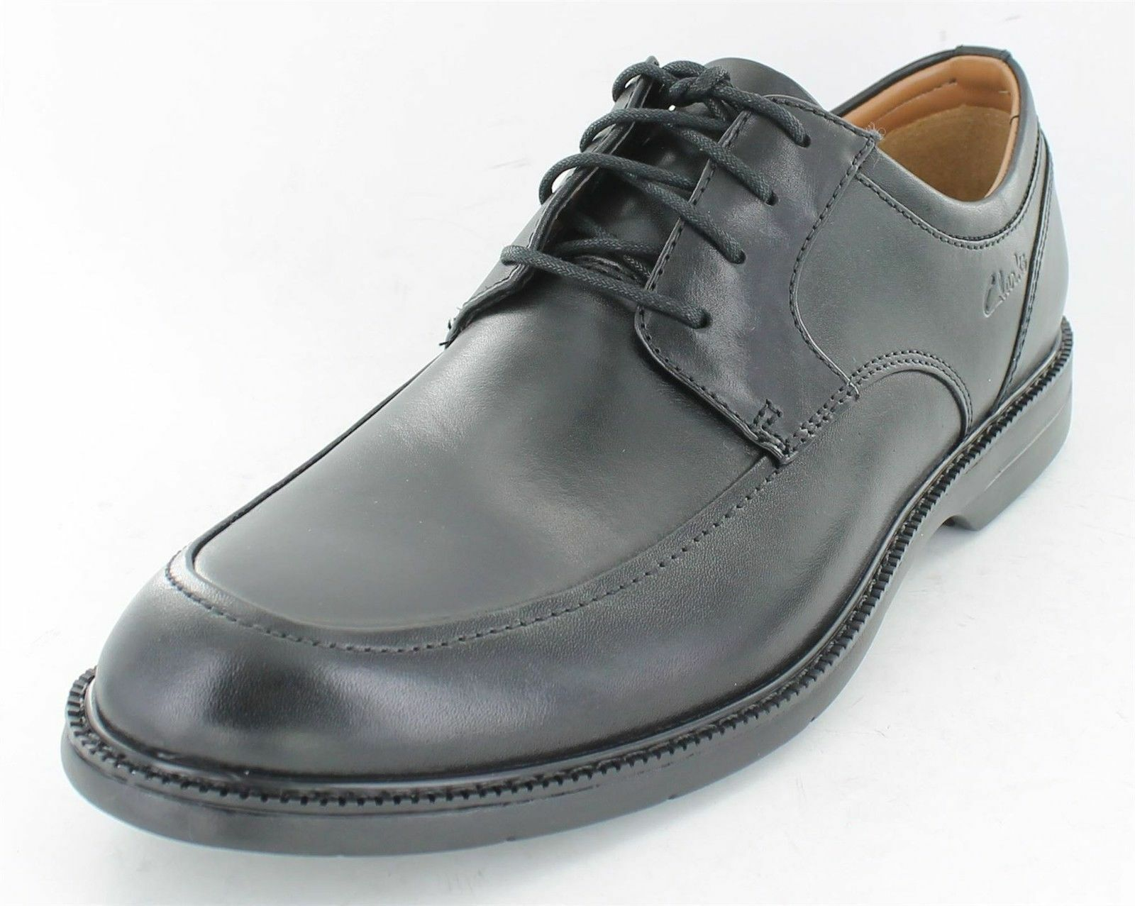 Clarks Bilton geschnürte Walk Herren schwarze geschnürte Bilton Leder förmliche Schuhe 24758d