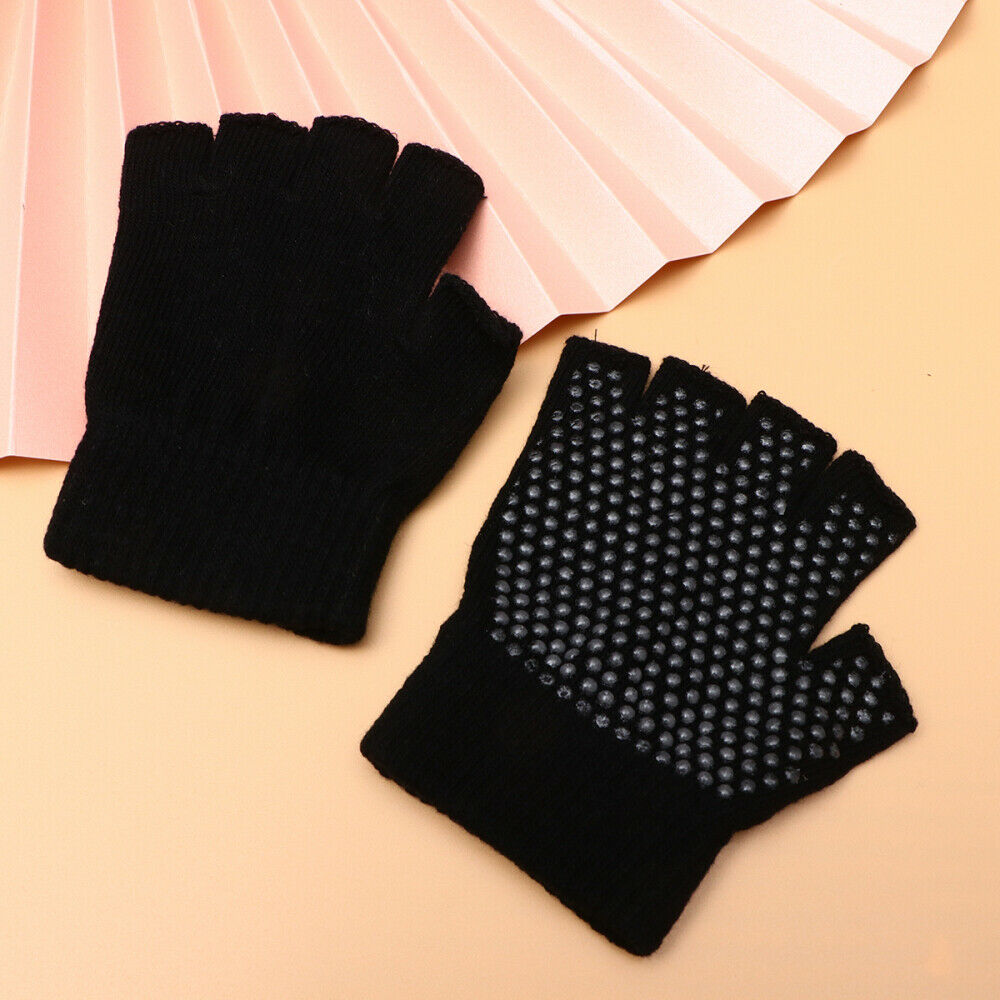 1 Pair Reusable Durable Lightweight Knitted Half Finger Family Co-worker