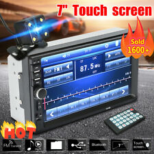 """7"""" Double 2 Din Touch Screen Car MP5 MP3 Player Bluetooth Stereo FM Radio+Camera"""