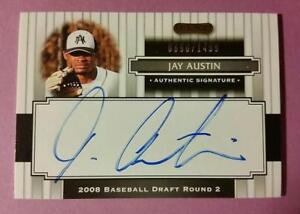 JAY-AUSTIN-RC-ROOKIE-AUTOGRAPH-AUTO-156-ASTROS-2008-RAZOR-MLB-BASEBALL