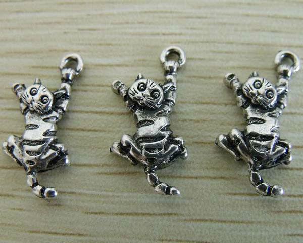10 pcs Vintage Silver Zinc Alloy Cute Honeybee Charms Pendants Crafts 40x38x5mm