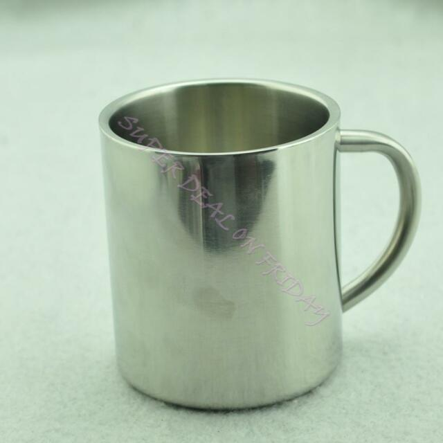 S Size Stainless Steel Coffee Mug Tumbler Camping Mug Double-deck Bilayer Cup