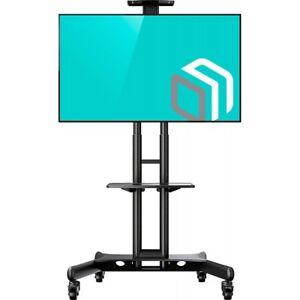 Porta Tv Da Mobile.Details About Ts15 51 Supporto Tv Da Pavimento Mobile Porta Tv Carello Piedistallo Staffa Tv C