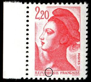 TIMBRE-VARIETES-LIBERTE-2-20-ROUGE-N-Yvert-2376-L46S