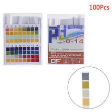 100pcs Ph Indicator Test Strips 0 14 Test Paper Water Litmus Tester Urine Lu