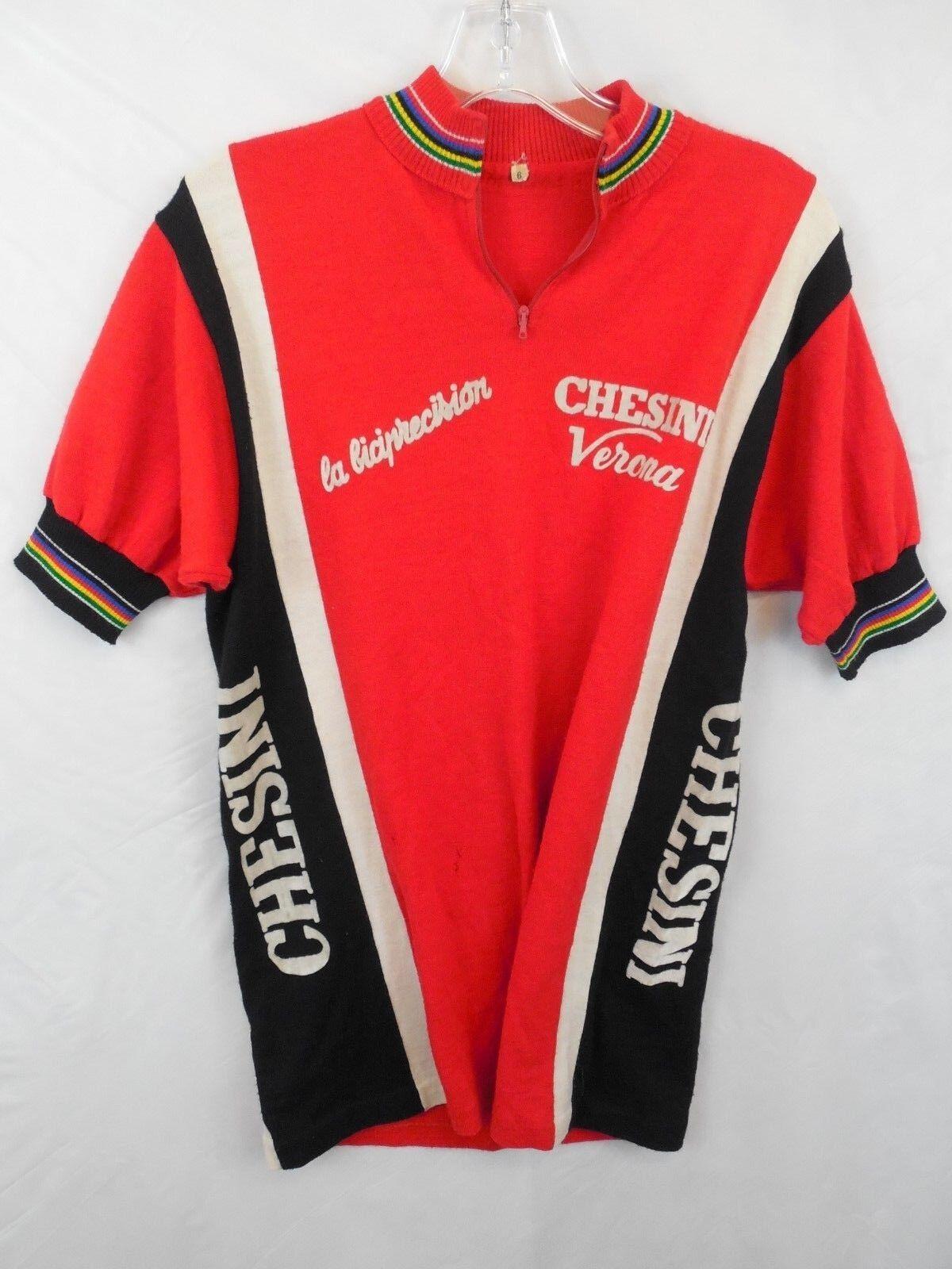 De Colección Chesini Verona Ciclismo Camiseta Maillot Cycliste  Eroïca Sz 6 CICLI  las mejores marcas venden barato