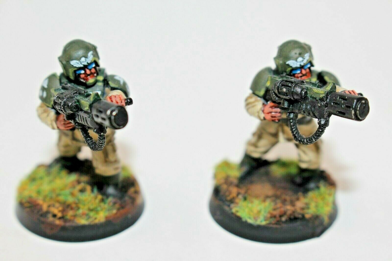 Warhammer Imperial Guard Cadaians with Melta Guns Well Painted - JYS83