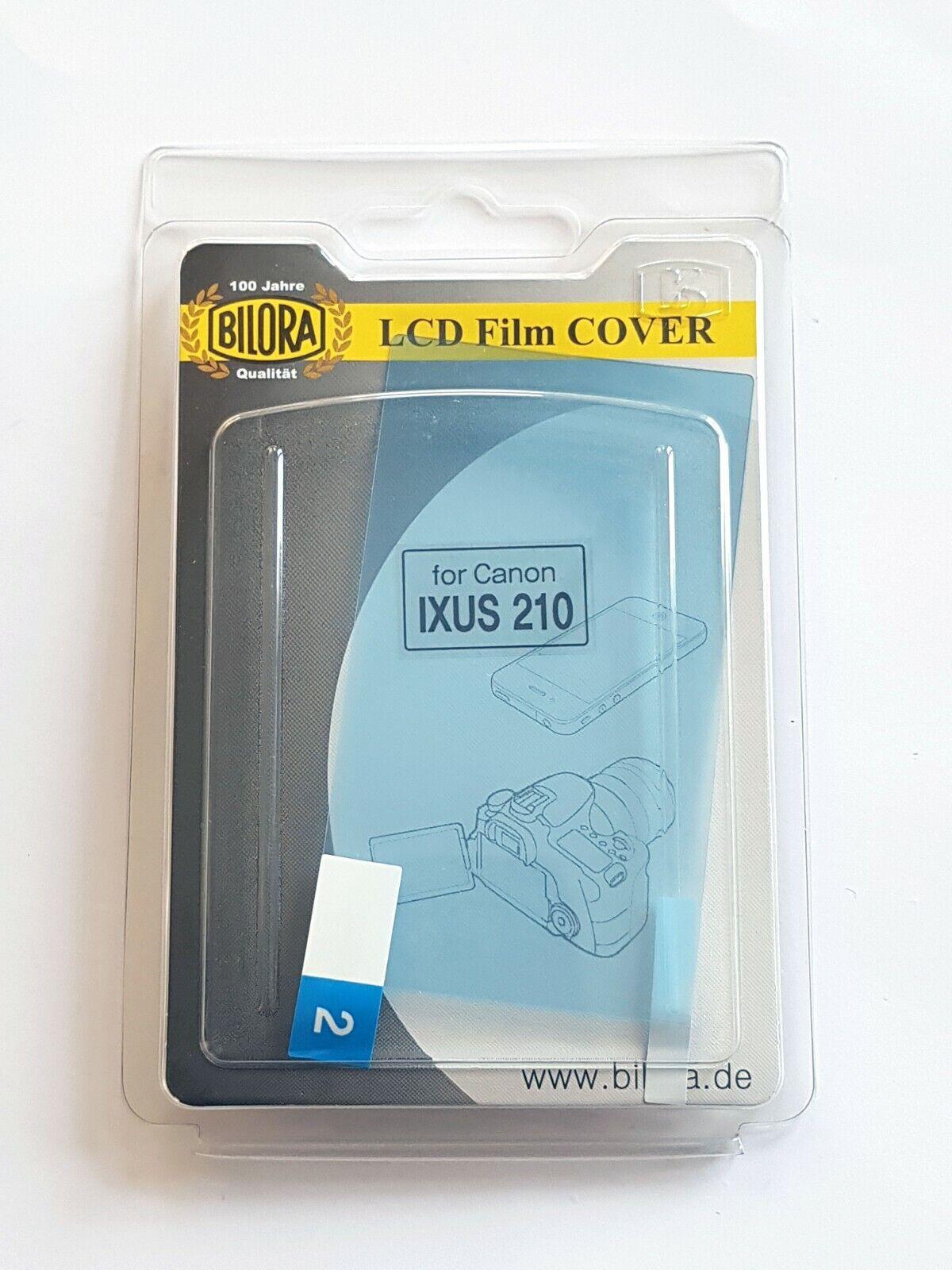 3 X BILORA LCD Film Cover Protective Film For CANON IXUS 210 New