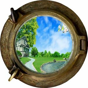 Huge-3D-Porthole-Enchanted-Garden-View-Wall-Stickers-Mural-Decal-Wallpaper-192