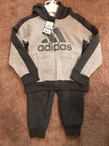a3fe3917c11e NEW Adidas Baby Boys s 2-Pc Jacket Pants Set Outfit 4T Tracksuit ...