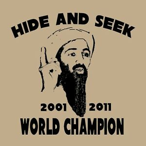 fa059a8dd Osama bin Laden T Shirt funny Hide And Seek Champion | eBay