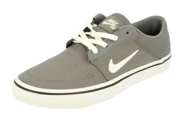 dd76c35e5ec9 Nike SB Portmore CNVS Canvas Grey White Mens Skateboarding Shoes 723874-004  UK 10