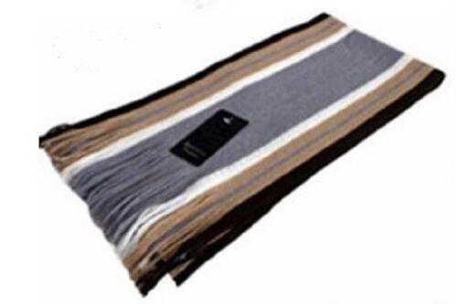 Men Classic Scarf Shawl Winter Warm Long Fringe Striped Tassel Wrap USA Seller!