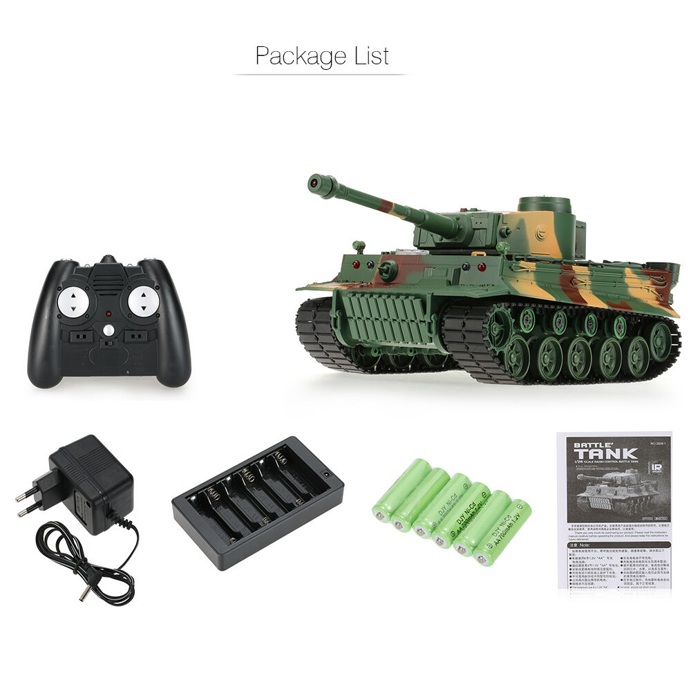 1 26 Scale German Tiger Panzer Tank RC Remote Control Simulated Sound Light