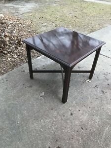 Details About Ethan Allen Georgian Court Cherry Large Square Coffee End Table