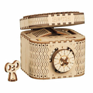 Details About Robotime Diy Model Building Kits Teasure Box Gears Wooden Toy Birthday Gift Kids