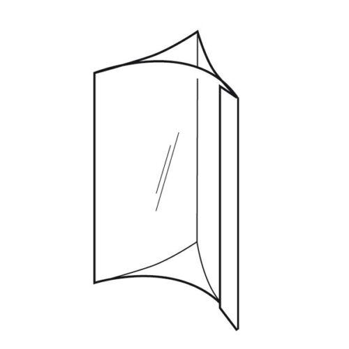 BOX OF 5 TRIPPLE SIDED CONVEX A4 A5 A6 BUDGET CLEAR PVC PRINT HOLDER