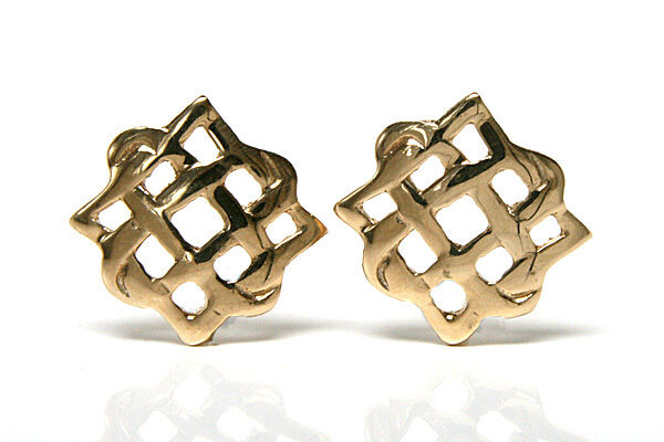 9ct Gold Celtic Stud earrings Gift Boxed Studs Made in UK